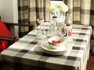 纯棉色织 格子 桌布/台布/餐桌布/盖布-【绅士】系列,桌布,