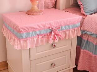 韩国家居床上用品四件套公主床品套件亭亭玉立配套布艺床头柜罩,桌布,