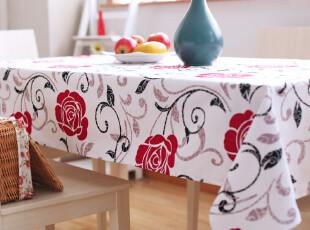 6101 倾城牡丹 餐桌布 布艺 椅套 坐垫 椅垫 桌旗 桌布 田园桌布,桌布,