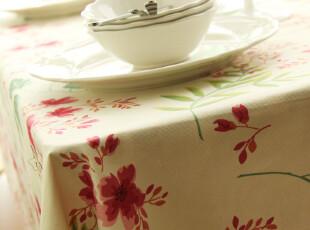 纯棉 田园 桌布 台布 餐桌布 桌旗 盖布 茶几布 樱树的歌声,桌布,