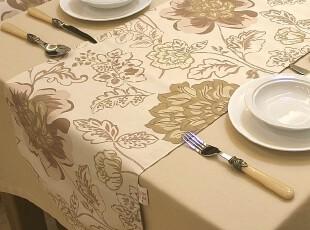 外贸双层 布艺餐桌桌条 桌旗 桌垫 不含桌布台布*欧式Baroque,桌布,