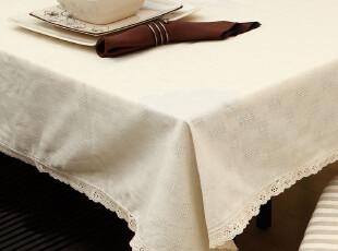 致惠 布艺棉麻田园桌布 纯棉茶几布台布盖布 餐桌布,桌布,
