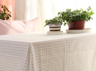 纯棉活性帆布 桌布/台布/茶几布/盖布/HONEY系列(圆点),桌布,