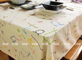 佰乐屋●外贸桌布 茶几桌布 布艺特价 餐桌布 欧式台布(字母),桌布,