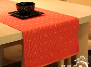 新款 红加橙 双面用密织桌旗 翻一翻 又一种心情,桌布,