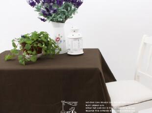 纯棉活性 桌布 台布 沙发巾 桌旗 盖布 茶几布 咖啡色,桌布,