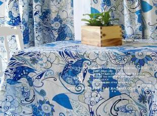 加厚纯棉活性布料 桌布*台布*沙发巾*桌旗*盖布*茶几布*听海,桌布,