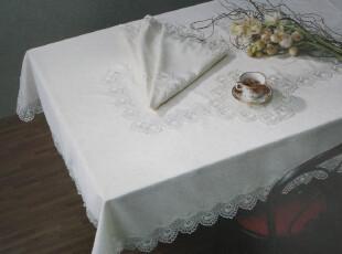 【精品布艺】白色蕾丝桌巾,桌布,