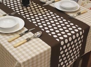 Art Deco 双层布艺 餐桌桌旗/桌条/床旗/桌垫咖啡 不含桌布台布,桌布,