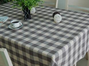 尼德 简约欧式 咖啡方格 仿亚麻色织 桌布 台布 盖巾,桌布,