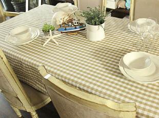 【吉屋】欧若拉色织方格系列 桌布/台布/盖布/餐桌布(19),桌布,