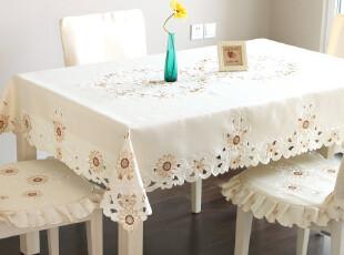 6734 品味生活~田园 餐桌布 圆桌桌布 台布 桌布 椅垫椅背套 2012,桌布,