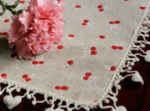 麻纱花边盖巾 台布 茶几巾 多用布,桌布,