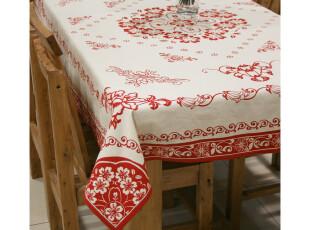 帛彩堂 原创纯棉中式桌布 电视冰箱罩 多规格餐桌布 繁华似锦,桌布,