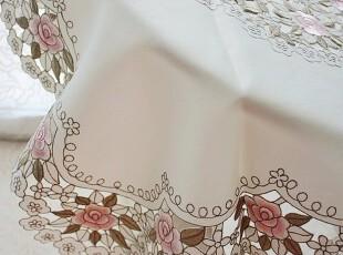 皇冠信誉★欧罗巴玫瑰系列 精品满工刺绣 桌布 多用盖布 ,桌布,