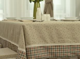 新品!桌布台布餐桌布盖布茶几布 布艺 格子 桌垫地中海,桌布,