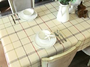 【吉屋】贝思5亚麻桌布/台布/盖布/餐桌布●午后时光,桌布,