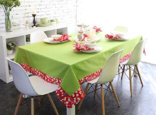 【吉屋】依诺系列 桌布台布餐桌布 果绿拼接,桌布,