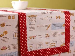 「GUIA'S」红玉面包-棉麻双面桌旗,桌布,