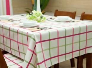 纯棉 布艺桌布/台布/餐桌布/盖布/茶几布 格子桌垫简约Rebecca,桌布,