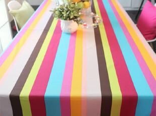 【吉屋】纯棉 布艺 桌布 餐桌布 台布 茶几盖布.彩虹,桌布,