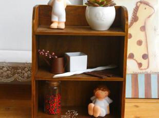 特价zakka实木盒 做旧复古桌面收纳柜 墙挂墙收纳盒整理盒首饰盒,桌面收纳,