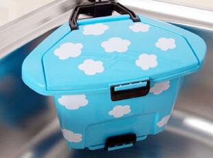 【特价】韩国云朵吸盘垃圾桶架垃圾筒杂物筒 时尚创意桌面收纳桶,桌面收纳,