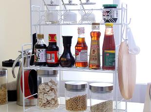 7.5折 大号三层架金属储物架 多层厨房置物架子桌面收纳架子菜架,桌面收纳,