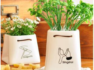 默默爱♥可爱家居 zakka风 清新简约 桌面收纳 陶瓷纸袋 可挂,桌面收纳,