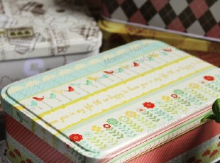 磨砂质感 连盖翻盖铁盒 清新可爱创意 文具盒 桌面收纳储物盒 6款,桌面收纳,