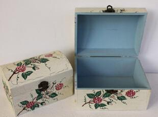 家居装饰日用 收纳盒/手工彩会雕花 /裂纹漆/微瑕疵桌面收纳 套二,桌面收纳,