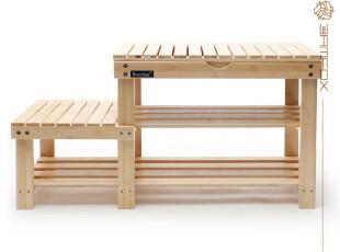 百孚竹家具 楠竹亲子换鞋凳 穿鞋凳 高低凳 带盒鞋架 人气超高,椅凳,