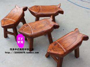 实木鱼凳 家具定制 换鞋凳 中式古典 儿童凳子  创意 特价,椅凳,