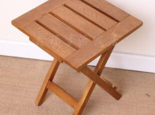外贸户外休闲实木非柞木橡木儿童小折叠椅餐凳电脑椅方桌梳妆凳子,椅凳,