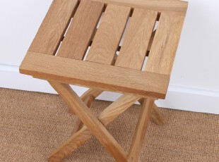 户外休闲实木非柞木橡木餐凳换鞋凳折叠椅凳子儿童板凳钓鱼凳马扎,椅凳,