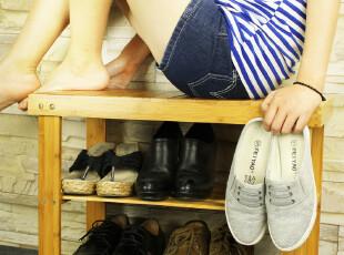 竹禾木生活 精品楠竹 换鞋凳 穿鞋凳 宜家款式环保漆 鞋凳 特价,椅凳,