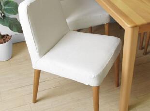 emvo 新品上市日式家具 北欧风格 水曲柳纯实木 YC-62餐椅 软包椅,椅凳,