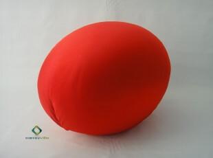 鸡蛋椅 Egg Chair 矮凳 换鞋凳 休闲凳 创意 时尚简约 布艺 红色,椅凳,