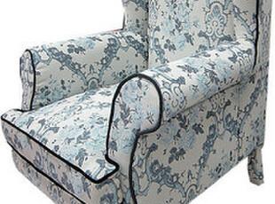 法思思家居 民族风包布椅子 新中式混搭沙发椅 青花瓷中国画沙发,椅凳,