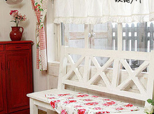 地中海风格家具 白色长椅 情人椅 田园 乡村做旧餐椅 韩式家具,椅凳,