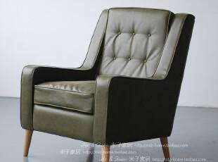 时尚家居别墅酒店真皮沙发 头层牛皮纳什维尔皮质单人沙发椅,椅凳,