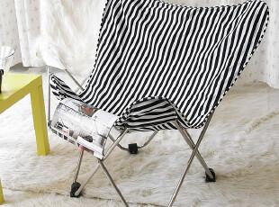 新品上市【柠檬树】大号单人蝴蝶椅*懒人沙发*折叠椅*双层纯棉,椅凳,