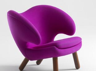 的确良-创意时尚 羊毛绒实木脚架 pelican chair 水鸟椅,椅凳,