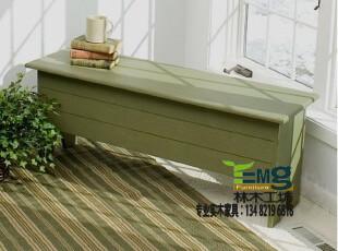 比邻乡村 实木家具定制 普林斯特长凳 餐椅凳 换鞋凳 床尾凳,椅凳,