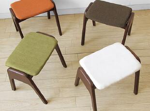 emvo 日式家具 北欧风格 水曲柳纯实木 凳子 YC-68矮凳 换鞋凳,椅凳,