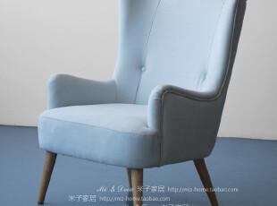 现代时尚舒适单人沙发椅 客厅别墅家具家私哥德堡单人椅,椅凳,