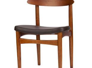 水曲柳原色 餐椅 实木 设计师 皮革 宜家 时尚休闲 创意 造型椅子,椅凳,