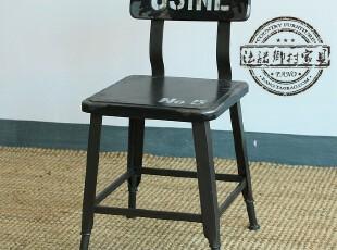 法诺乡村家具 铁艺做旧 方凳子换鞋凳D006 现货,椅凳,