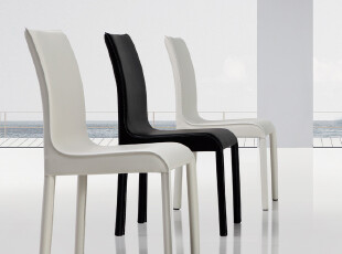 尚美 现代 时尚 简约 皮 餐椅 白色 黑色 8折 限时特价 包邮,椅凳,