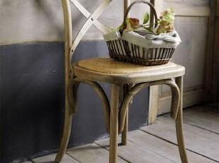 法诺 法式 比邻乡村款家具 仿古做旧loft风格地中海 餐椅T501现货,椅凳,